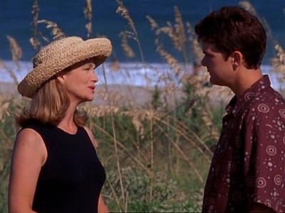 Leann Hunley e Joshua Jackson nell'episodio Il ritorno di Tamara della serie Dawson's Creek