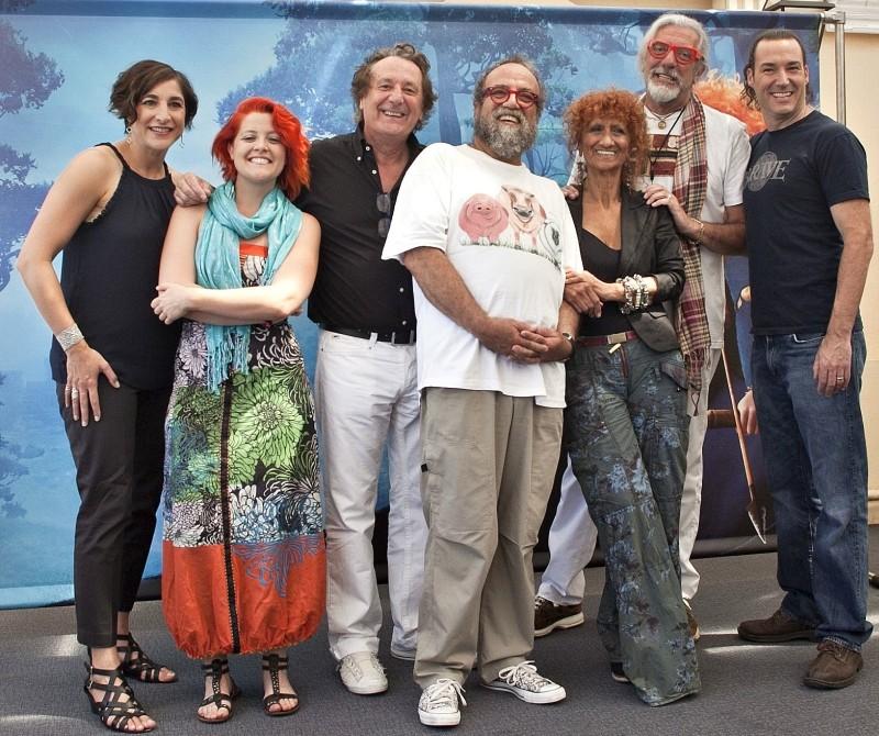 Ribelle - The Brave: il regista Mark Andrew insieme alla produttrice Katherine Sarafian e alle voci italiane del film a Roma