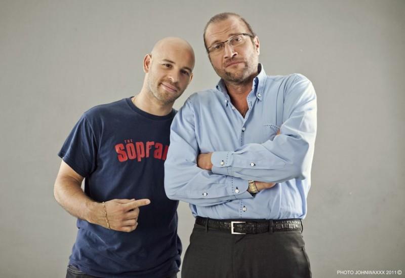 François Damiens con Franck Gastambide in una immagine promo di Les Kaïra