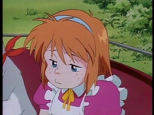 Marie in una scena dell'episodio Addio, Red Noah della serie-tv Il mistero della pietra azzurra