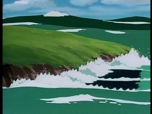 Una scena dell'episodio Addio, Red Noah di Nadia - Il mistero della pietra azzurra