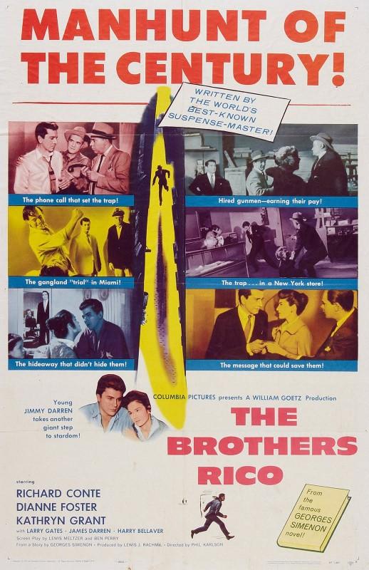 I fratelli Rico: la locandina del film