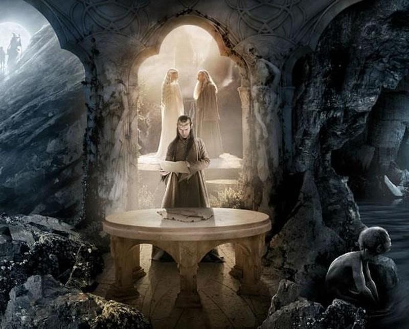 Lo Hobbit: un viaggio inaspettato: Hugo Weaving è Elrond nella terza parte dell'artwork realizzato per il Comic-Con 2012