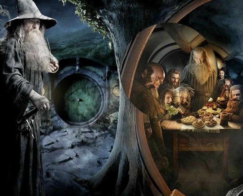 Lo Hobbit - Un viaggio inaspettato: Ian McKellen è Gandalf il Grigio nella prima parte dell'artwork realizzato per il Comic-Con 2012