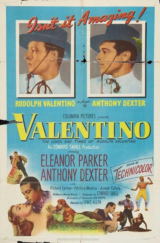 Rodolfo Valentino: la locandina del film