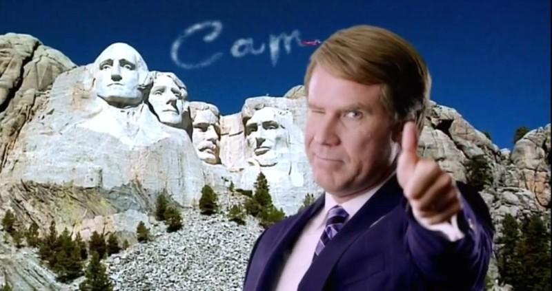 Candidato a sorpresa: Will Ferrell in un'immagine autopromozionale tratta dal film