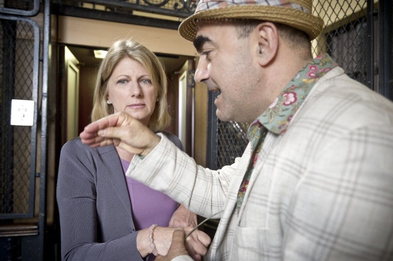 Eva dopo Eva: Angela Finocchiaro insieme a Elio in una scena del film