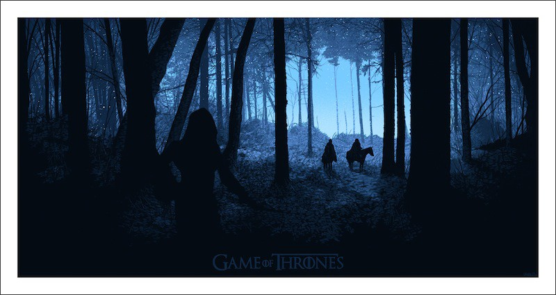 Game of Thrones: uno dei poster realizzati in occasione del Comic-Con 2012