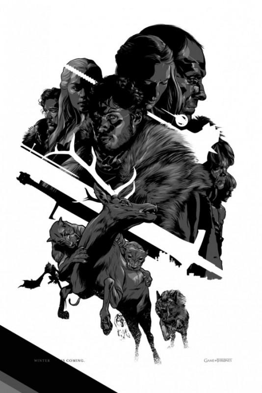 Game of Thrones: uno dei poster rilasciati in occasione del Comic-Con 2012