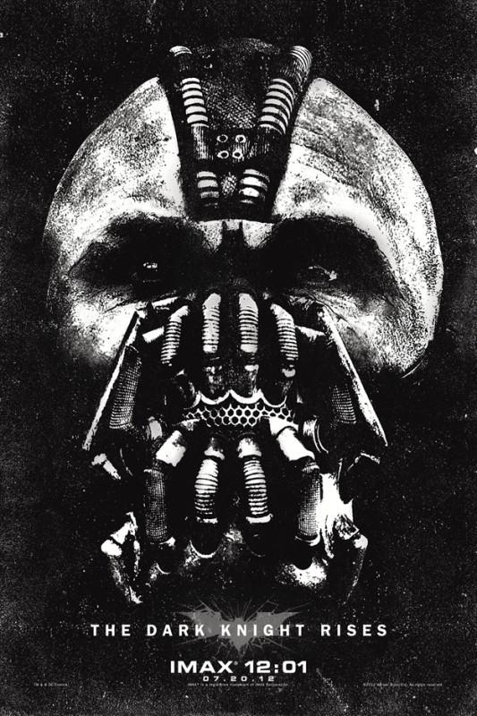 Il cavaliere oscuro - Il ritorno: un inquietante poster di Bane