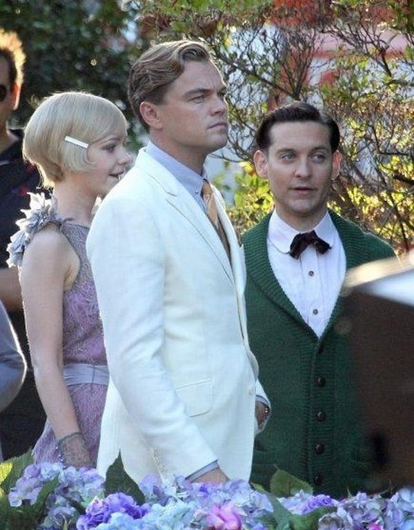 Il Grande Gatsby: Leonardo DiCaprio, Tobey Maguire e Carey Mulligan sul set