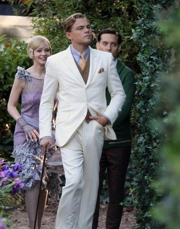 Leonardo DiCaprio, Tobey Maguire e Carey Mulligan sul set de Il Grande Gatsby