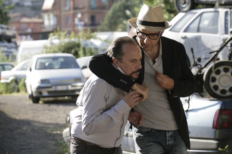 Una donna per la vita: Maurizio Casagrande e Neri Marcoré sul set parlano in privato