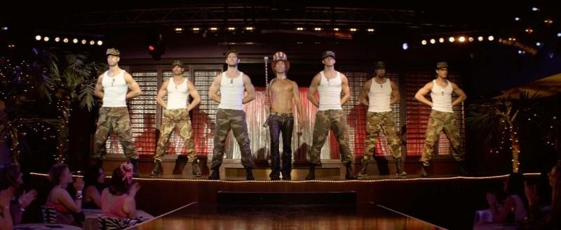 Matthew McConaughey in uno degli spettacolo di spogliarello in Magic Mike