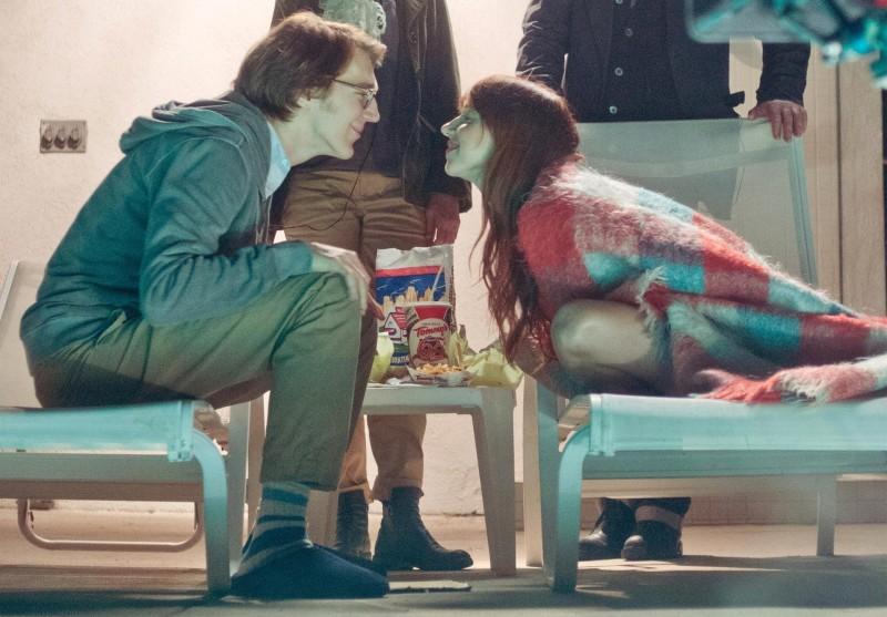 Ruby Sparks: Paul Dano e Zoe Kazan provano una scena sul set del film