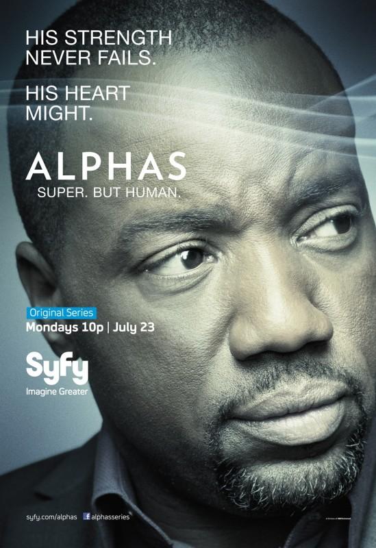 Alphas: un character poster della stagione 2 per Bill Harken, il personaggio interpretato da Malik Yoba