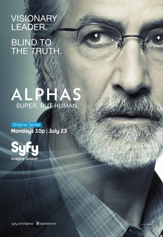 Alphas: un character poster della stagione 2 per Dr. Lee Rosen, il personaggio interpretato da David Strathairn