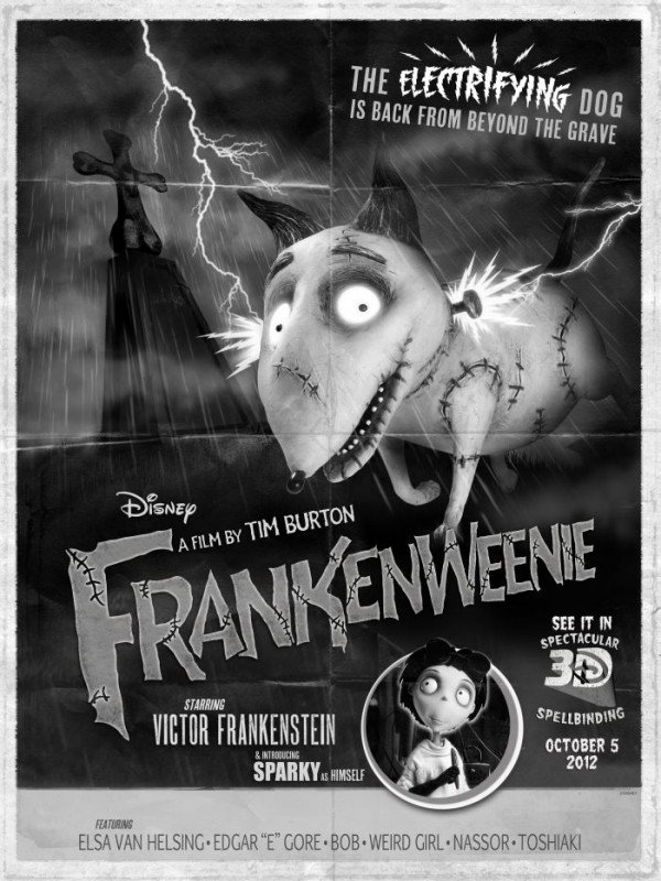 Frankenweenie: il poster del film realizzato in occasione del Comic-Com di San Diego