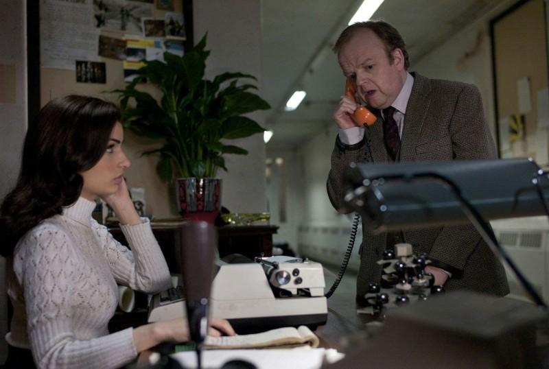 Berberian Sound Studio: il protagonsita Toby Jones in una scena del film con Tonia Sotiropoulou