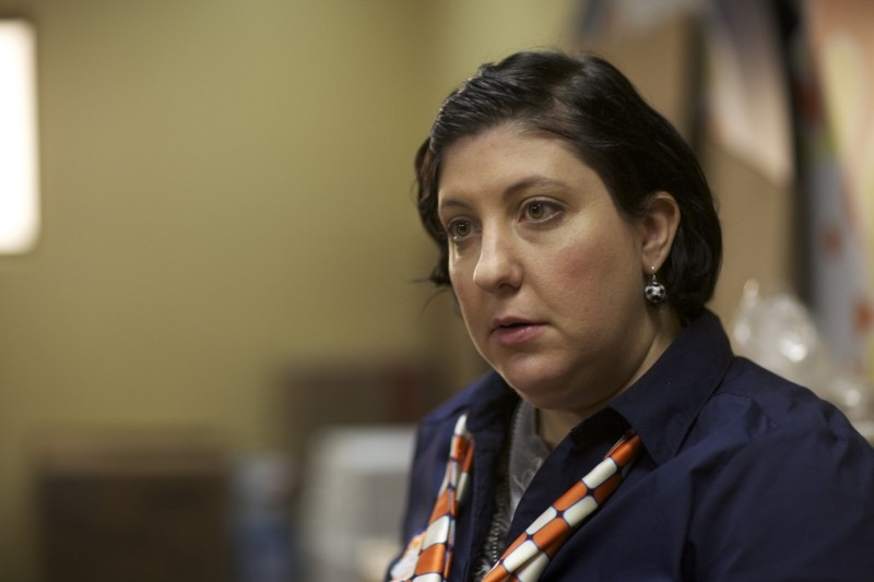 Compliance: Ashlie Atkinson in una scena del film