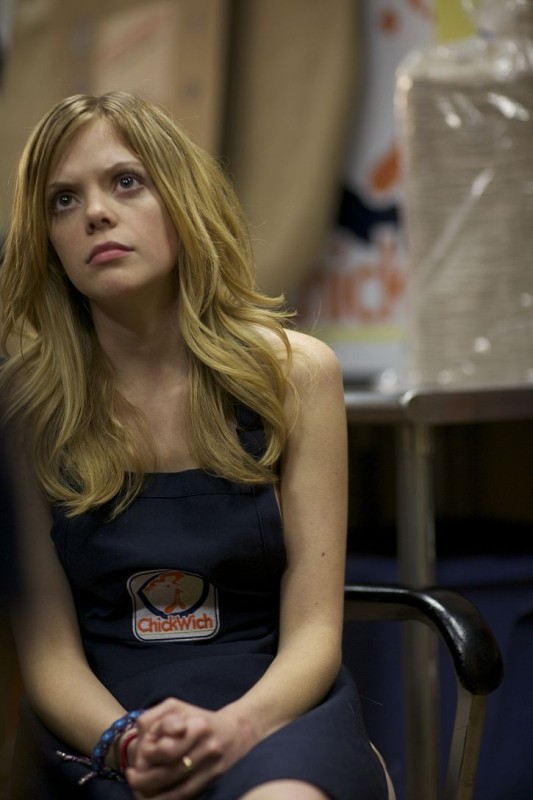 Compliance: la protagonista Dreama Walker in una scena del film