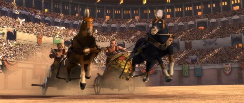Gladiatori di Roma: Cassio in azione durante una corsa con le bighe