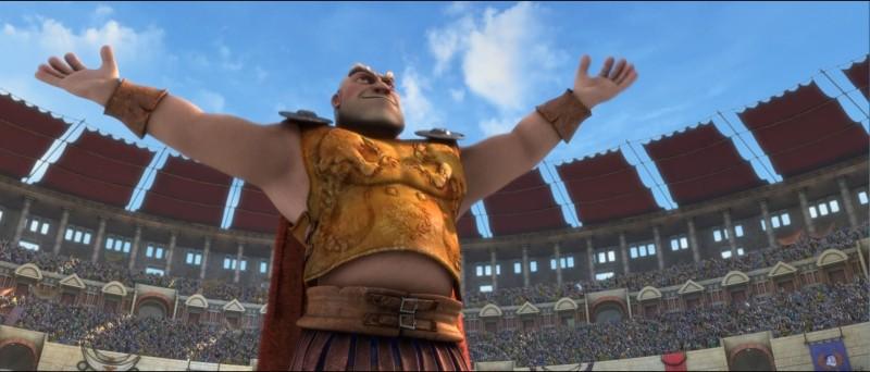 Gladiatori di Roma: il gladiatore in pensione Chirone, padre di Lucilla e padre adottivo di Timo in una scena