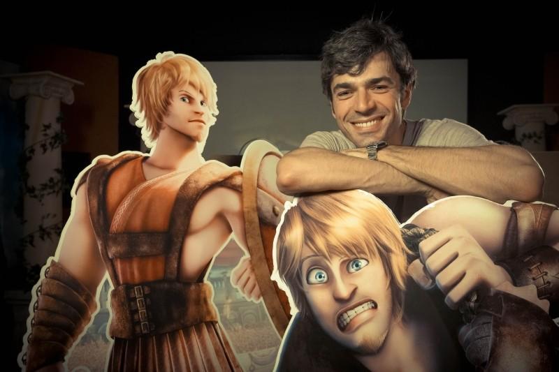 Gladiatori di Roma: Luca Argentero, doppiatore del gladiatore Timo, in una foto promozionale