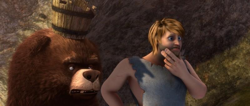 Gladiatori di Roma: Timo in una scena del film insieme ad un orso pelosone