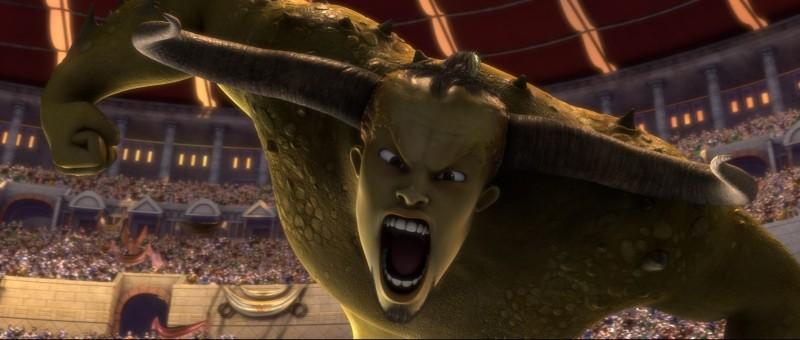 Gladiatori di Roma: una mostruosa immagine del film animato di Igino Straffi