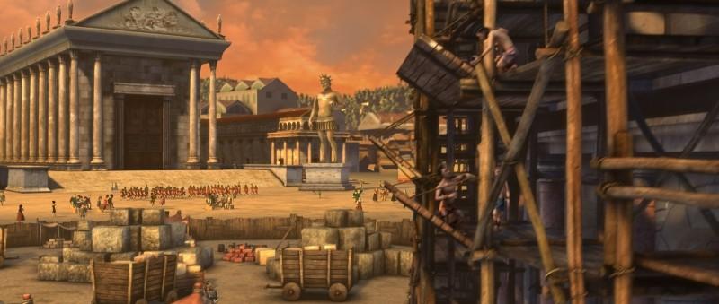 Gladiatori di Roma: una scena panoramica del film