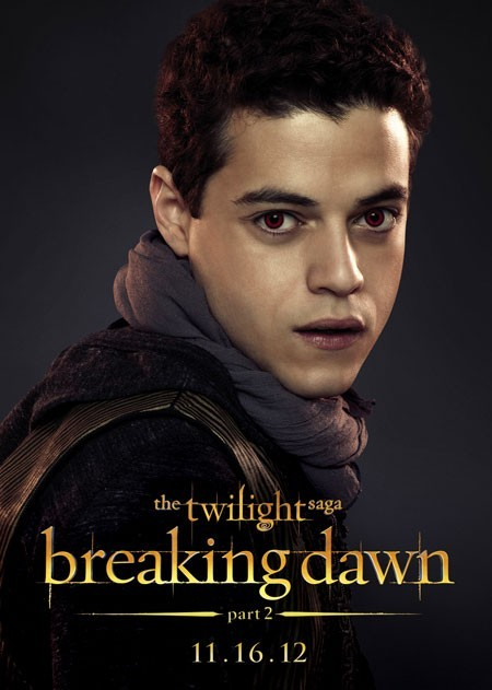 The Twilight Saga: Breaking Dawn - Parte 2: Rami Malek nel character poster di Benjamin