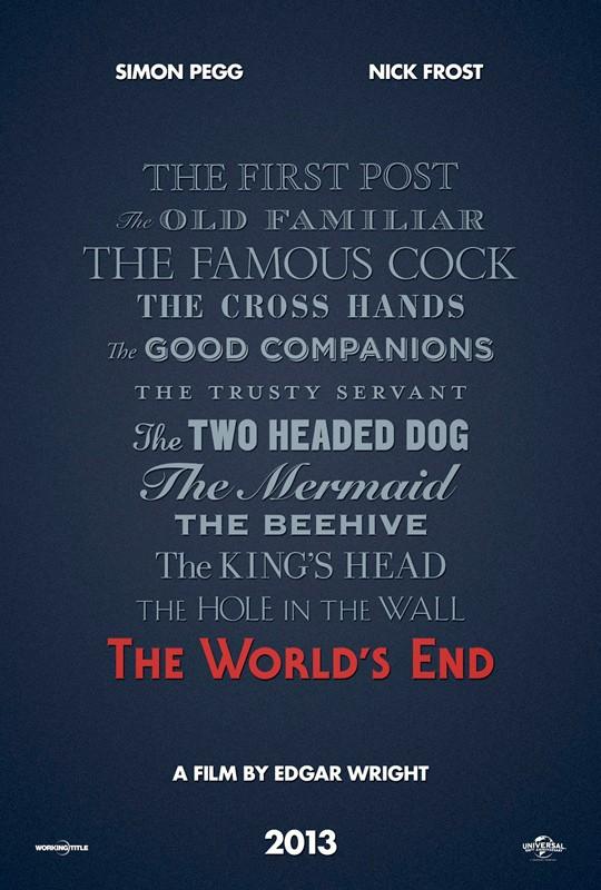 The World's End: ecco il teaser poster presentato al Comic Con