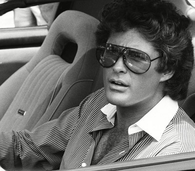 David Hasselhoff è Michael Knight in Supercar