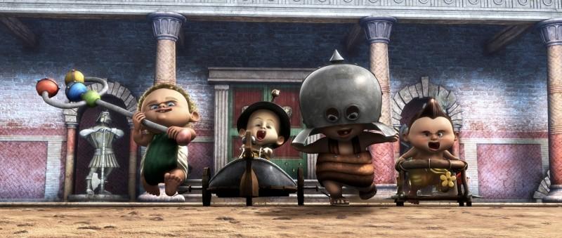Gladiatori di Roma: baby gladiatori in una scena del film diretto da Iginio Straffi