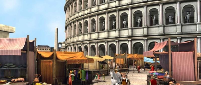 Gladiatori di Roma: il Colosseo di una volta in una scena del film d'animazione