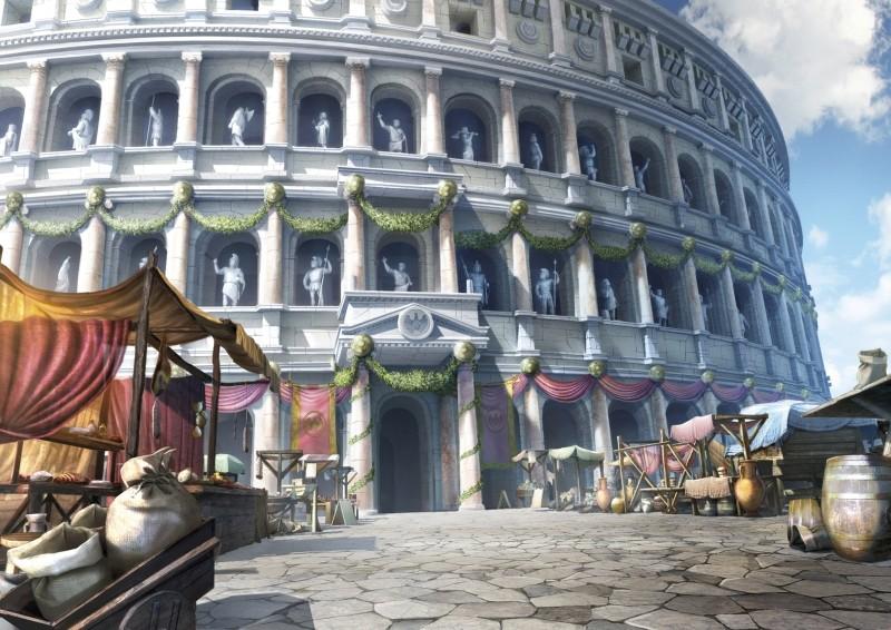 Gladiatori di Roma: il Colosseo in una scena tratta dal film d'animazione di Iginio Straffi
