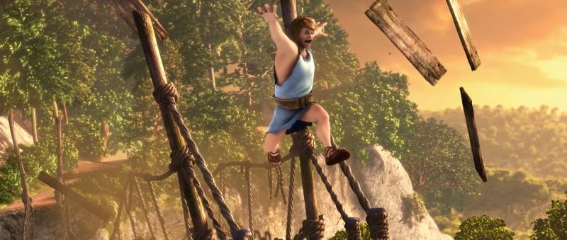 Gladiatori di Roma: l'apprendista gladiatore Timo in una scena del film