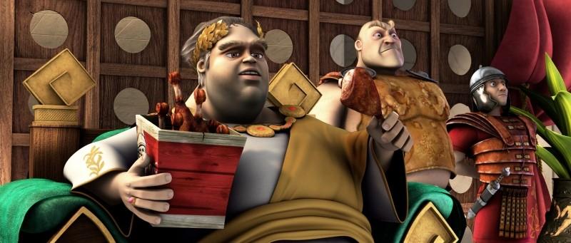 Gladiatori di Roma: una scena del film d'animazione di Iginio Straffi