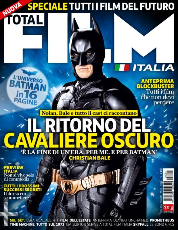 Il cavaliere oscuro - Il ritorno: ecco la copertina del primo numero di Total Film Italia dedicata al film