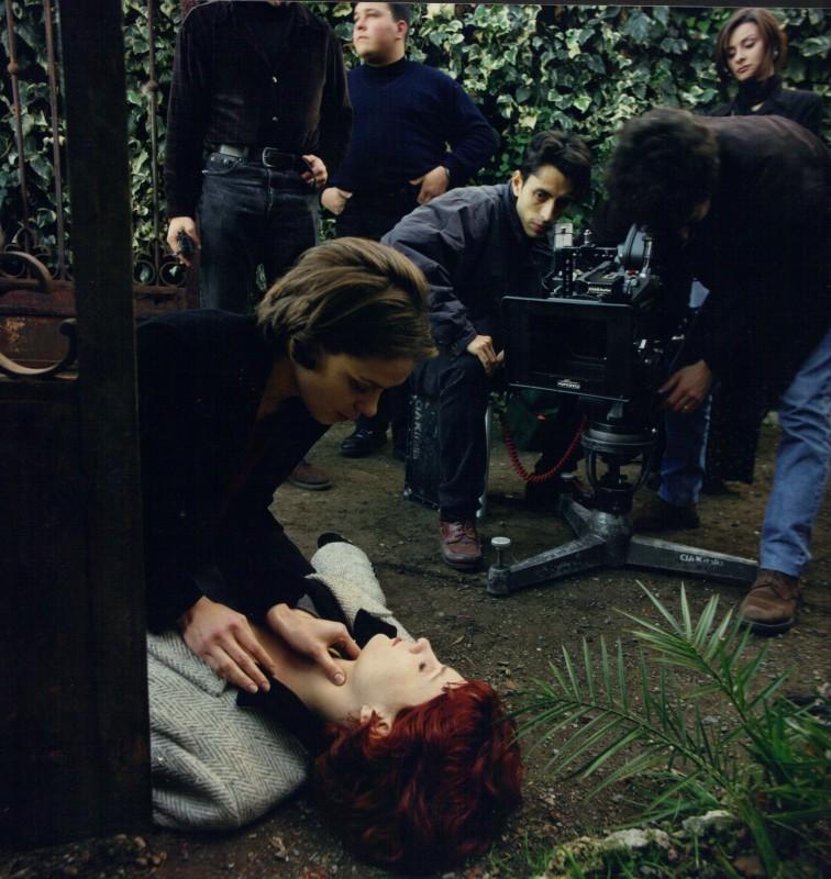 Immagine dal set di Uomo di Carta