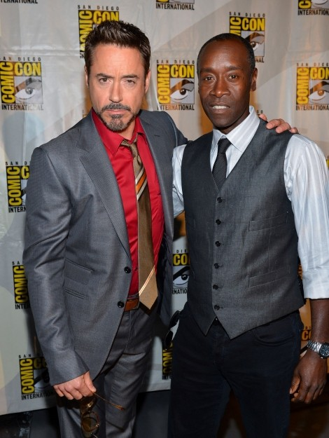 Robert Downey Jr. e Don Cheadle al San Diego Comic Con 2012