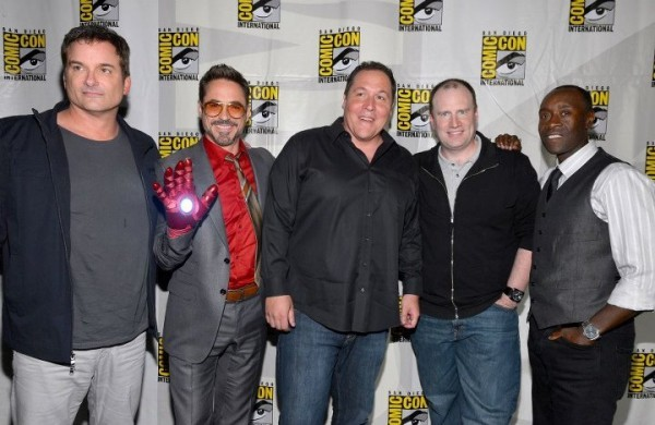 Robert Downey Jr., Jon Favreau, Don Cheadle e il team di iron Man 3 al San Diego Comic Con 2012