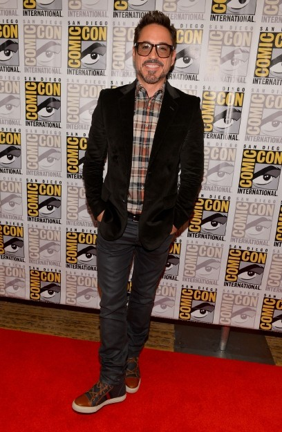 Robert Downey Jr., un supereroe in borghese, al San Diego Comic Con 2012