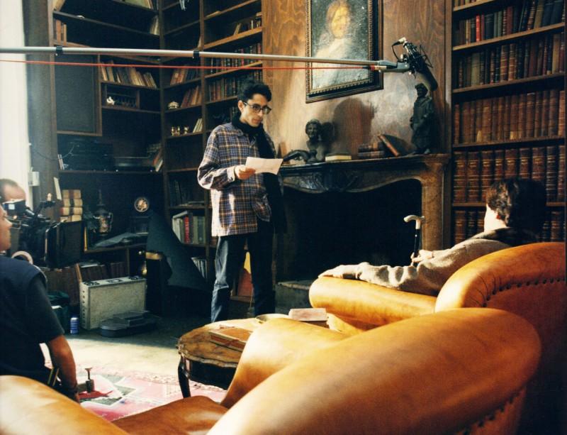 Uomo di carta: una immagine dal set
