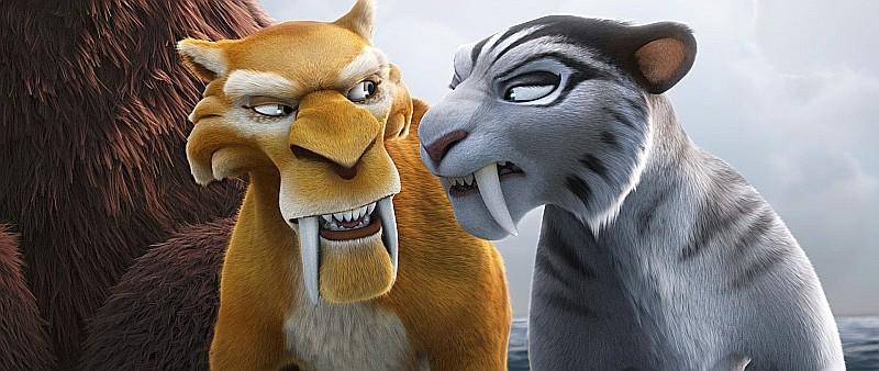 L'era glaciale 4: Continenti alla deriva, Diego e la sua nuova fiamma Shira in una scena del film