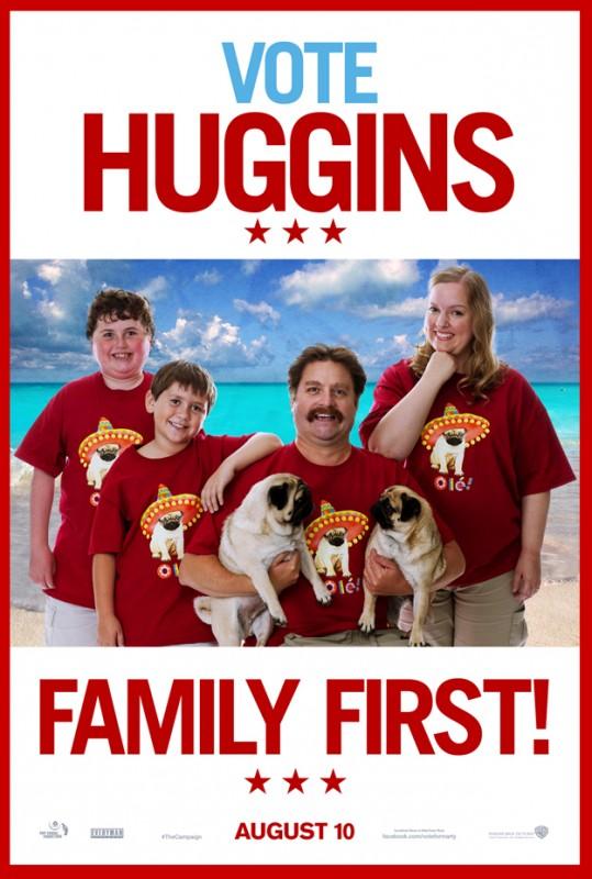 Un poster 'familiare' per Zach Galifianakis, protagonista di Candidato a sorpresa