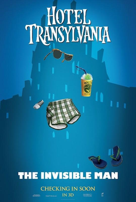 Hotel Transylvania: il character poster de l'Uomo Invisibile