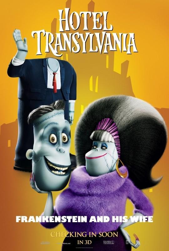 Hotel Transylvania: il character poster di Frankenstein e consorte