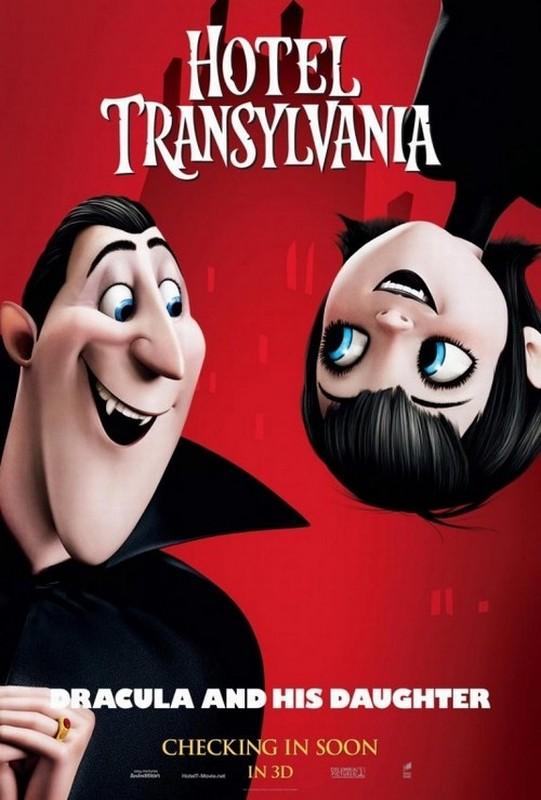 Hotel Transylvania: il character poster di Mavis con suo padra, il conte Dracula